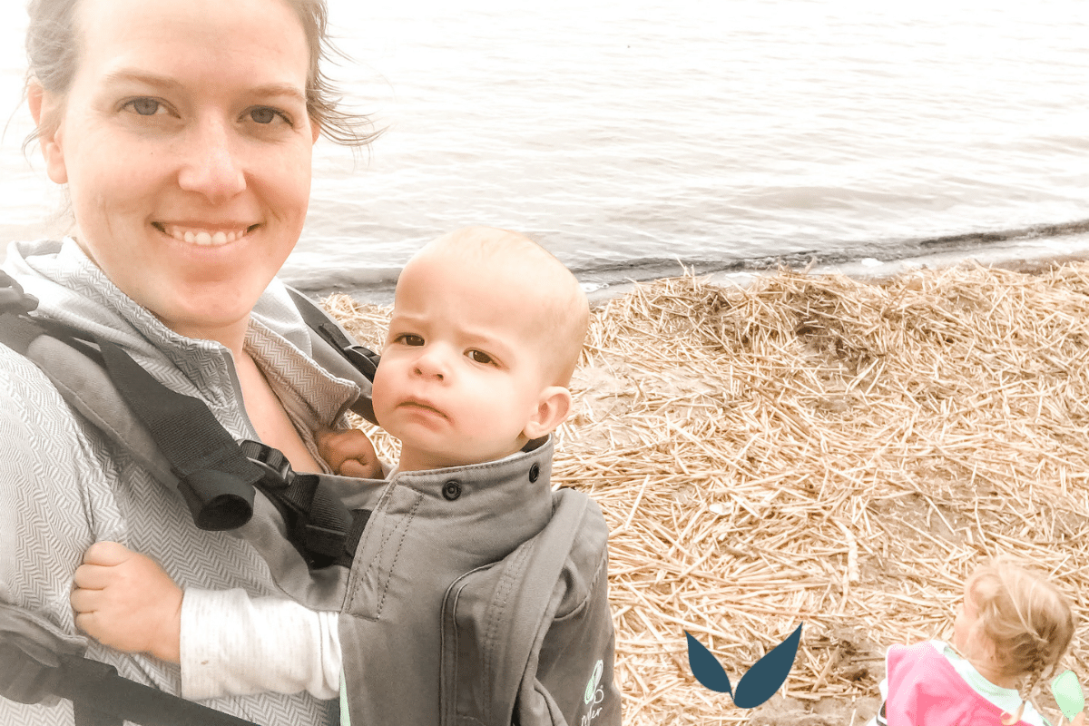 Anna with postpartum depression out kinking with 3 kids